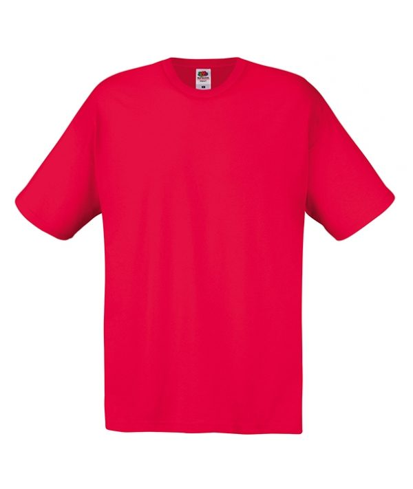 T-shirt Fruit of the loom Rosso