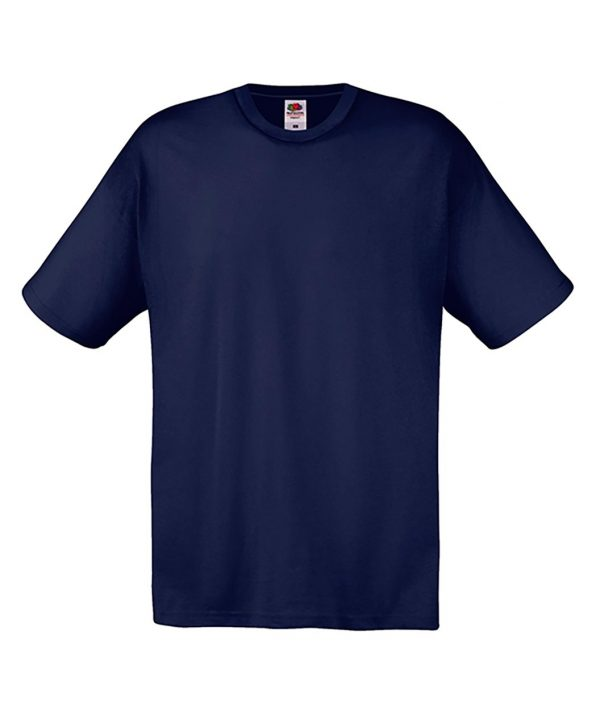 T-shirt Fruit of the loom Blu notte